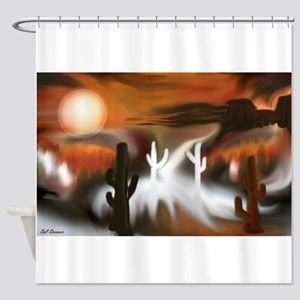 Southwest Fire and Ice Shower Curtain