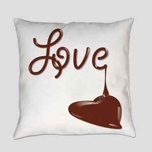 Love chocolate Everyday Pillow