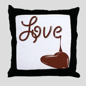 Love chocolate Throw Pillow