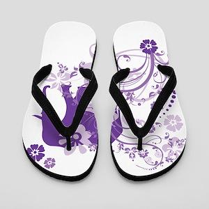 Elephant Swirls Purple Flip Flops