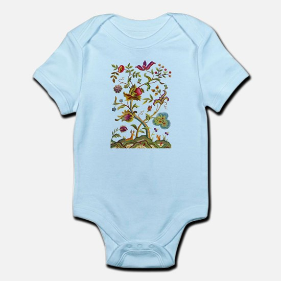 Tree of Life Jacobean Embroidery Infant Bodysuit
