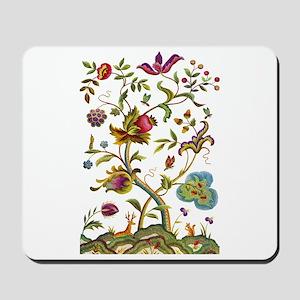 Tree of Life Jacobean Embroidery Mousepad