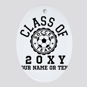 Class of 20?? Soccer Oval Ornament