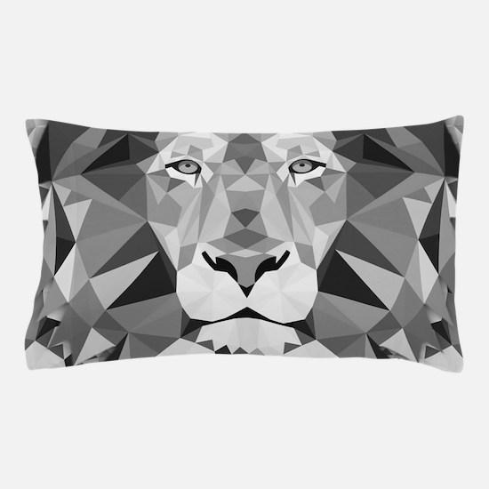 Gray Lion Pillow Case