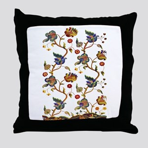 Albermarle Jacobean Embroidery Throw Pillow