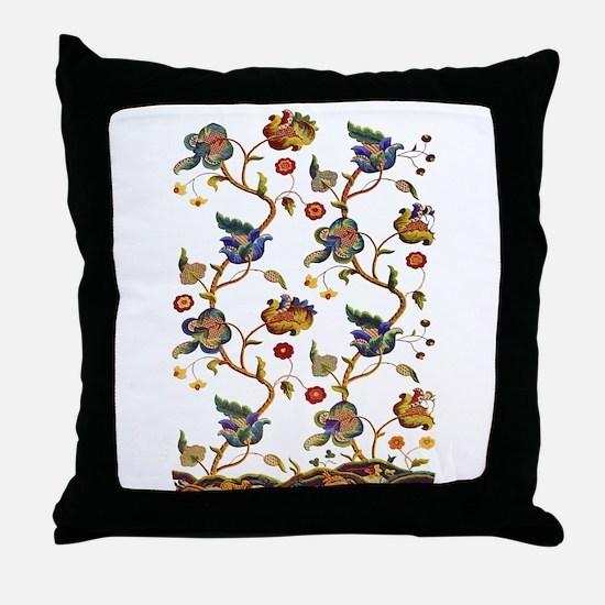 Albermarle Jacobean Embroidery Throw Pillow