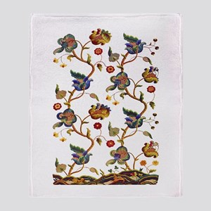 Albermarle Jacobean Embroidery Throw Blanket
