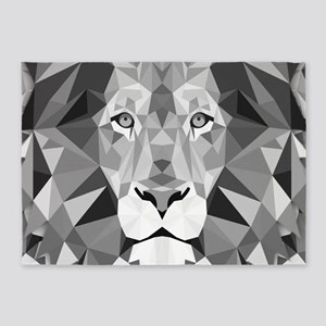 Gray Lion 5'x7'Area Rug