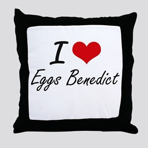 I love Eggs Benedict Throw Pillow