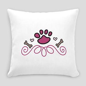 Dog Paw Swirl Everyday Pillow