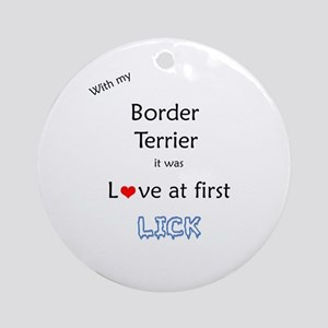 Border Terrier Lick Ornament (Round)