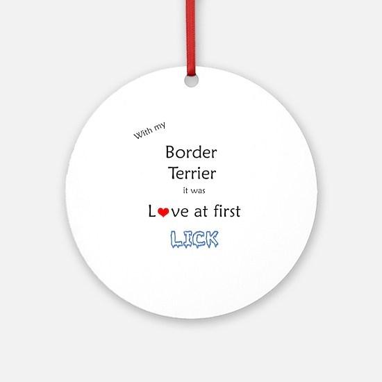 Border Terrier Lick Ornament (Round)