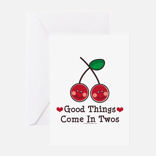 Good Things Cherry Twin Greeting Card
