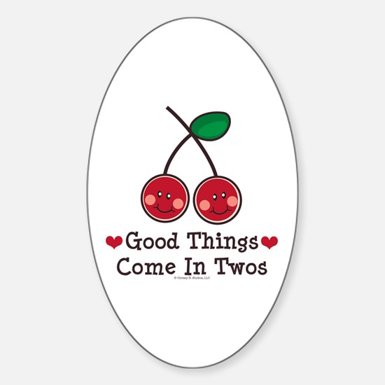 Good Things Cherry Twin Oval Decal
