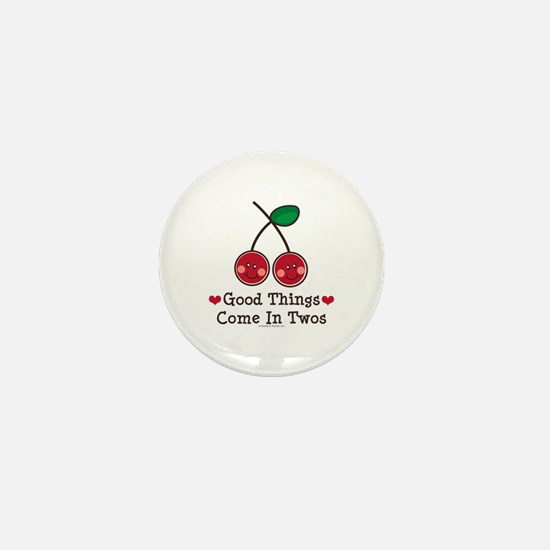 Good Things Cherry Twin Mini Button