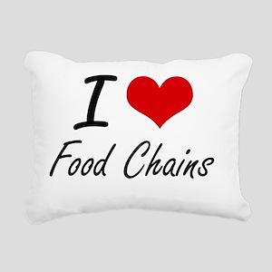 I love Food Chains Rectangular Canvas Pillow