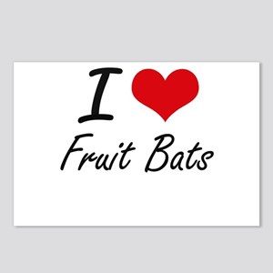 I love Fruit Bats Postcards (Package of 8)