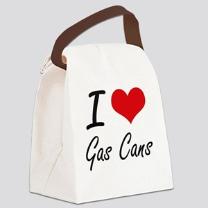 I love Gas Cans Canvas Lunch Bag