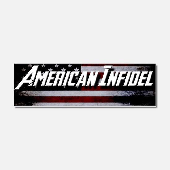 Cute American infidel Car Magnet 10 x 3