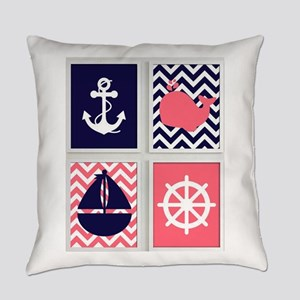 NAUTICAL IMAGES ON CHEVRON Everyday Pillow