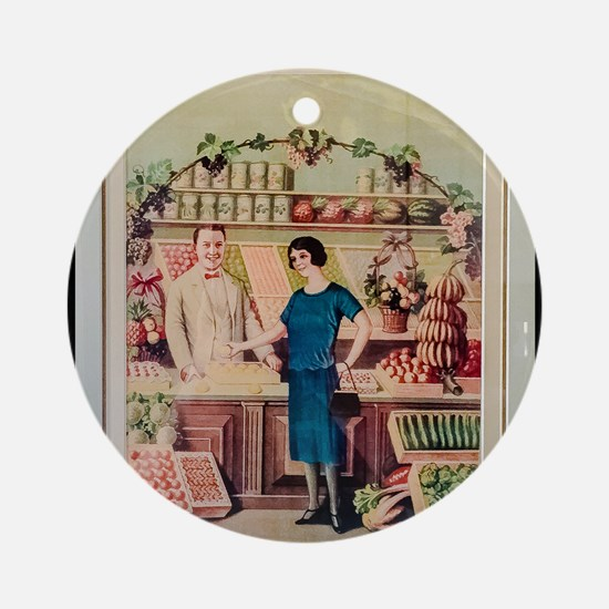 L'Epicerie Round Ornament