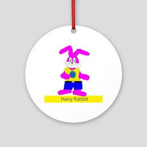 Hairy Rabbit Round Ornament