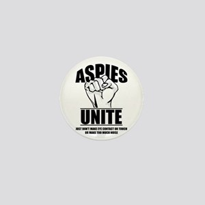 Aspies Unite Mini Button