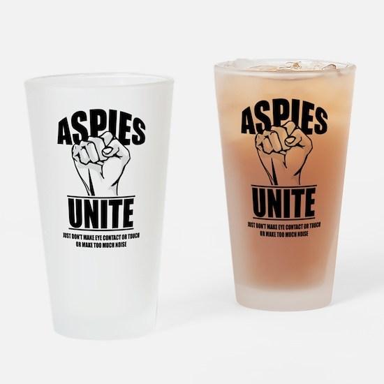 Aspies Unite Drinking Glass