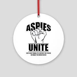 Aspies Unite Round Ornament