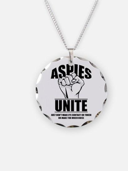 Aspies Unite Necklace Circle Charm