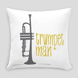 Trumpet Man Everyday Pillow
