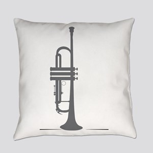 Upright Trumpet Everyday Pillow
