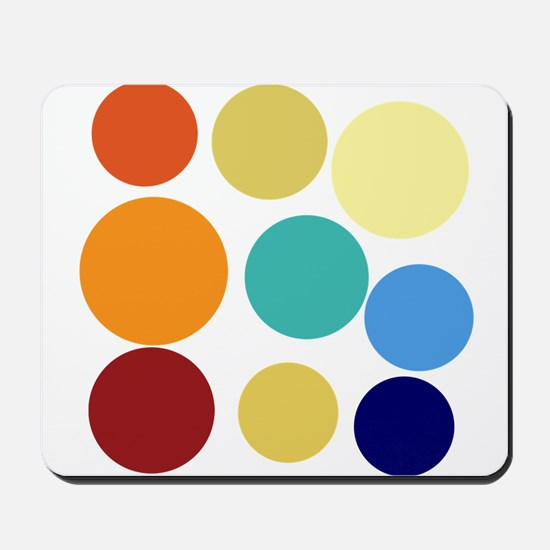 Cute Bright Polka Dots Fun Mousepad