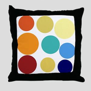 Cute Bright Polka Dots Fun Throw Pillow