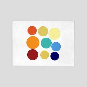 Cute Bright Polka Dots Fun 5'x7'Area Rug