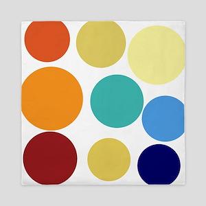 Cute Bright Polka Dots Fun Queen Duvet