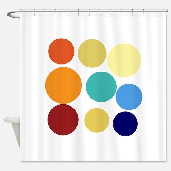Cute Bright Polka Dots Fun Shower Curtain