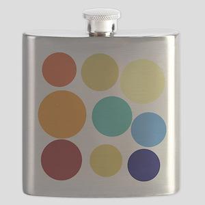 Cute Bright Polka Dots Fun Flask