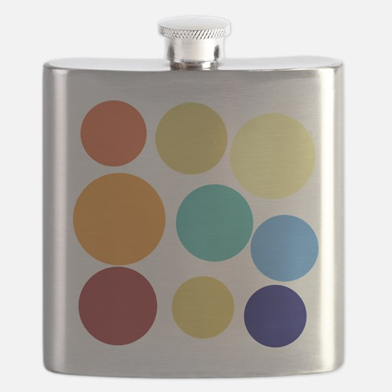 Cute Bright Polka Dots Fun Flask