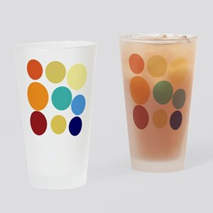 Cute Bright Polka Dots Fun Drinking Glass