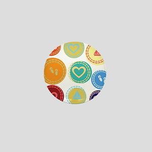 Cute Bright Polka Dots Fun Mini Button