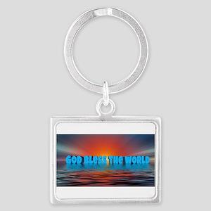 GOD BLESS THE WORLD Keychains