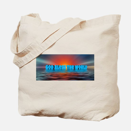 GOD BLESS THE WORLD Tote Bag