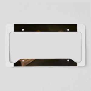 Wooden Cross License Plate Holder