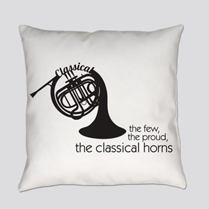 The Classical Horns Everyday Pillow