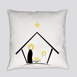 Baby In Manger Everyday Pillow