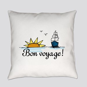 Bon Voyage Everyday Pillow