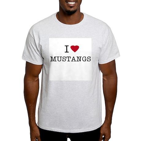 I Heart Mustangs Ash Grey T-Shirt