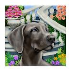 WEIMARANER DOG stairway Tile Coaster