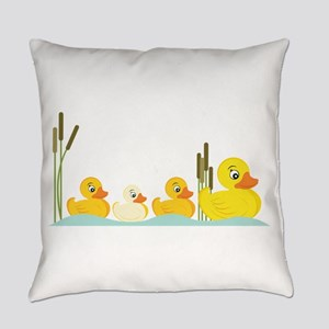 Ducky Family Everyday Pillow